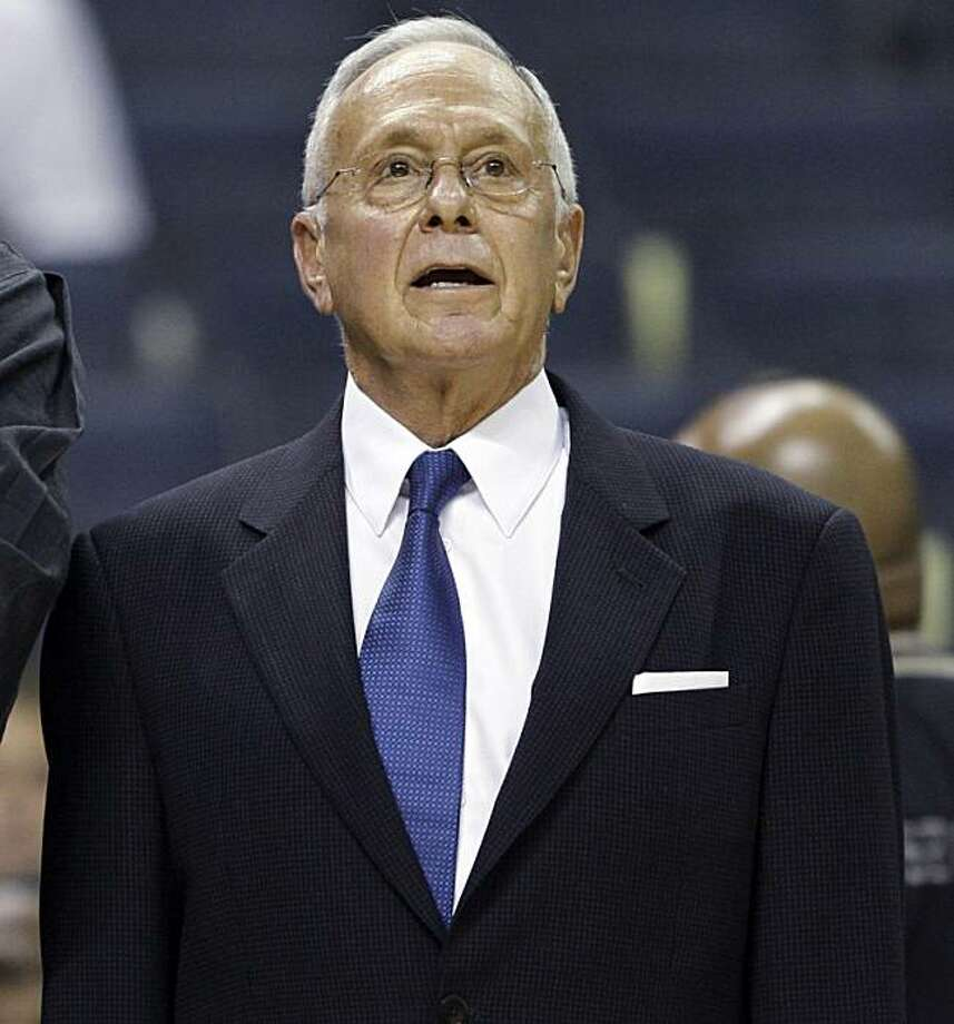 FILE - In this Oct. 30, 2009, file photo, Charlotte Bobcats coach Larry Brown, right, talks with managing partner Michael Jordan before an NBA basketball game against the New York Knicks in Charlotte, N.C.  Jordan struck a deal late Friday, Feb. 26, 2010,to buy a controlling interest in the Bobcats, making the NBA's greatest player the owner of the money-losing team in his home state. Photo: Chuck Burton, AP