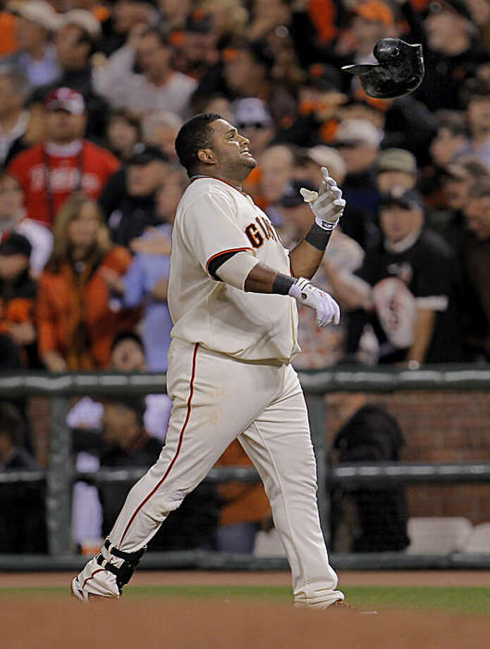 Pablo Sandoval reacts to a hit which was ruled foul in the sixth inning. San Francisco Giants vs Philadelphia Phillies Wednesday October 20, 2010 at AT&T park. Photo: Michael Macor, The Chronicle