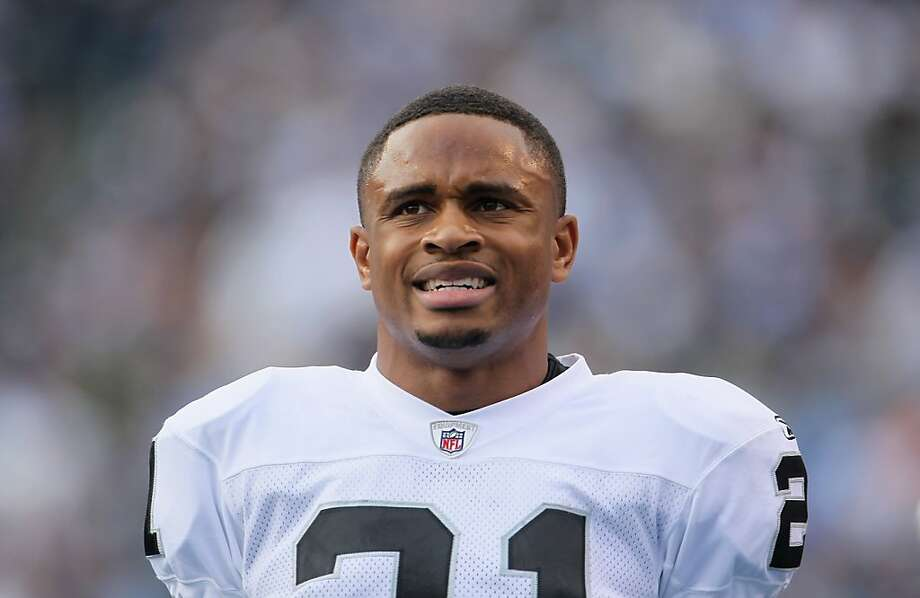 SAN DIEGO - DECEMBER 05:  Nnamdi Asomugha #21 the Oakland Raiders looks on from the sideline against the San Diego Chargers at Qualcomm Stadium on December 5, 2010 in San Diego, California. The Raiders defeated the Chargers 28-13.  (Photo by Jeff Gross/Getty Images) Photo: Jeff Gross, Getty Images