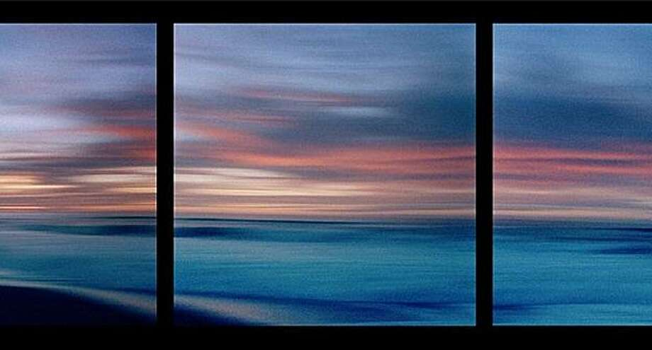 "Local photographer and darkroom artist Seth Dickerman's panoramic shots, like ""Coral Beach, push the possibilities of the hand-held film camera. Photo: A.Muse Gallery"