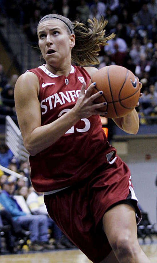 Stanford's Jeanette Pohlen drives for the basket during the first half of an NCAA college basketball game against California, Sunday, Jan. 2, 2011 in Berkeley, Calif. Stanford defeated California 78-45.(AP Photo/George Nikitin) Photo: George Nikitin, ASSOCIATED PRESS