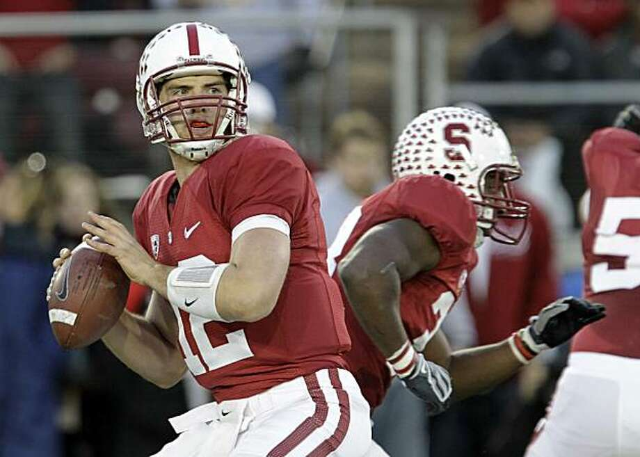 FILE - In this Nov. 27, 2010, file photo, Stanford quarterback Andrew Luck looks to pass during the first quarter of an NCAA college football game in Stanford, Calif. Luck is among the four finalists for the Heisman Trophy. Photo: Paul Sakuma, Associated Press