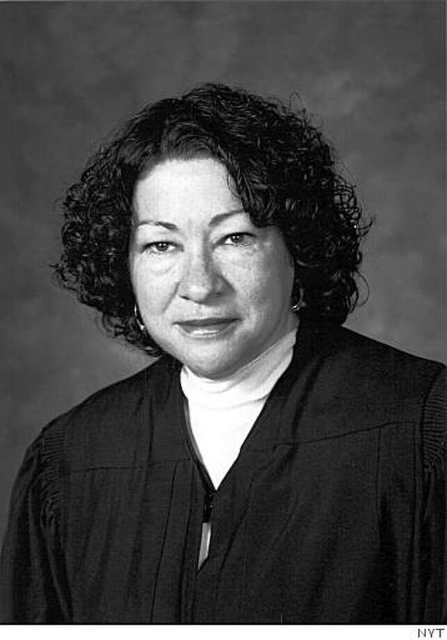 Sonia Sotomayor, a federal appeals court judge, is pictured in a 2003 handout photo. Sotomayor is near the top of many lists of women as possible nominees to the Supreme Court. (The New York Times)  **EDITORIAL USE ONLY** Photo: NYT