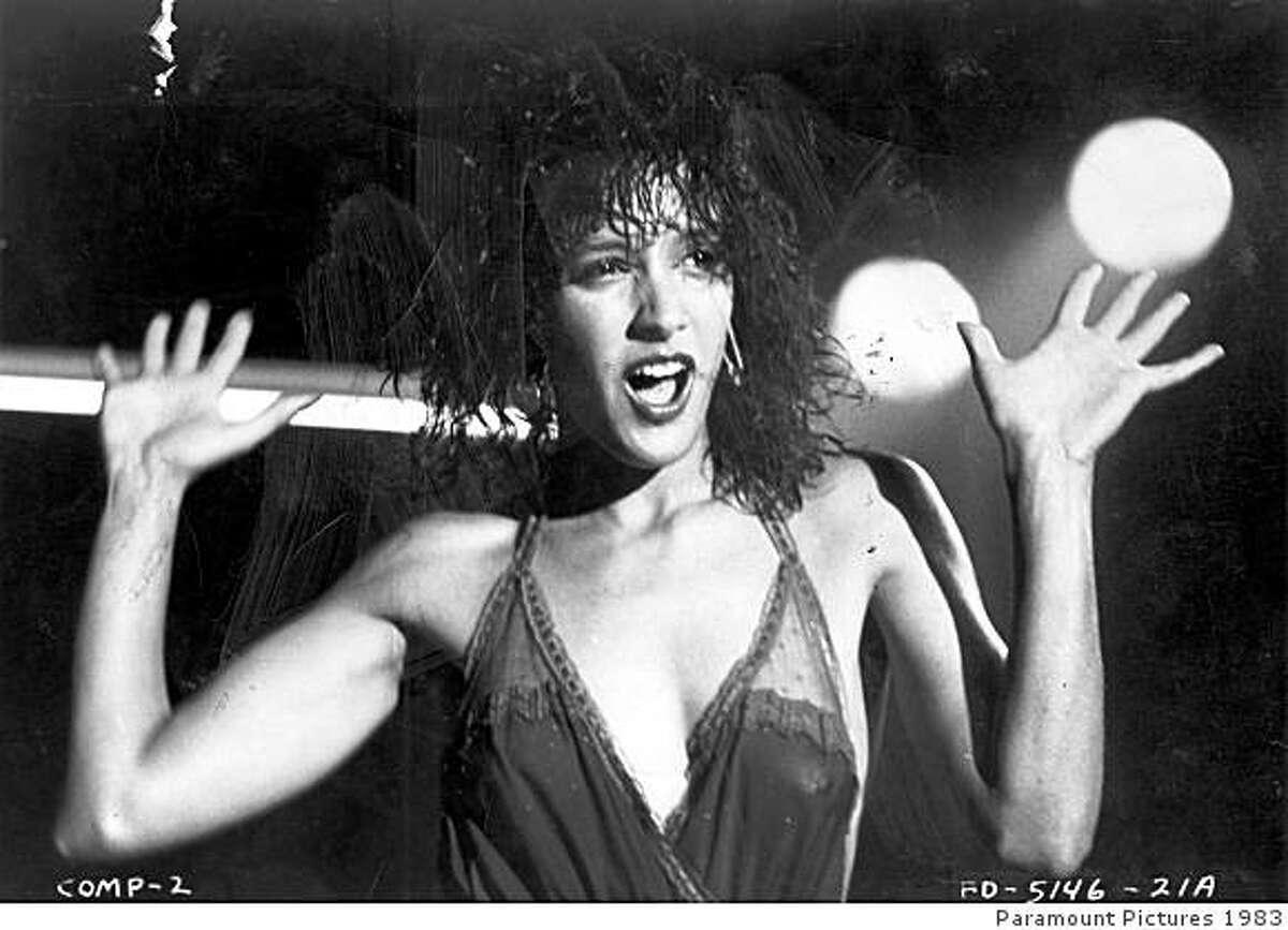 "Jennifer Beals in ""Flashdance."""