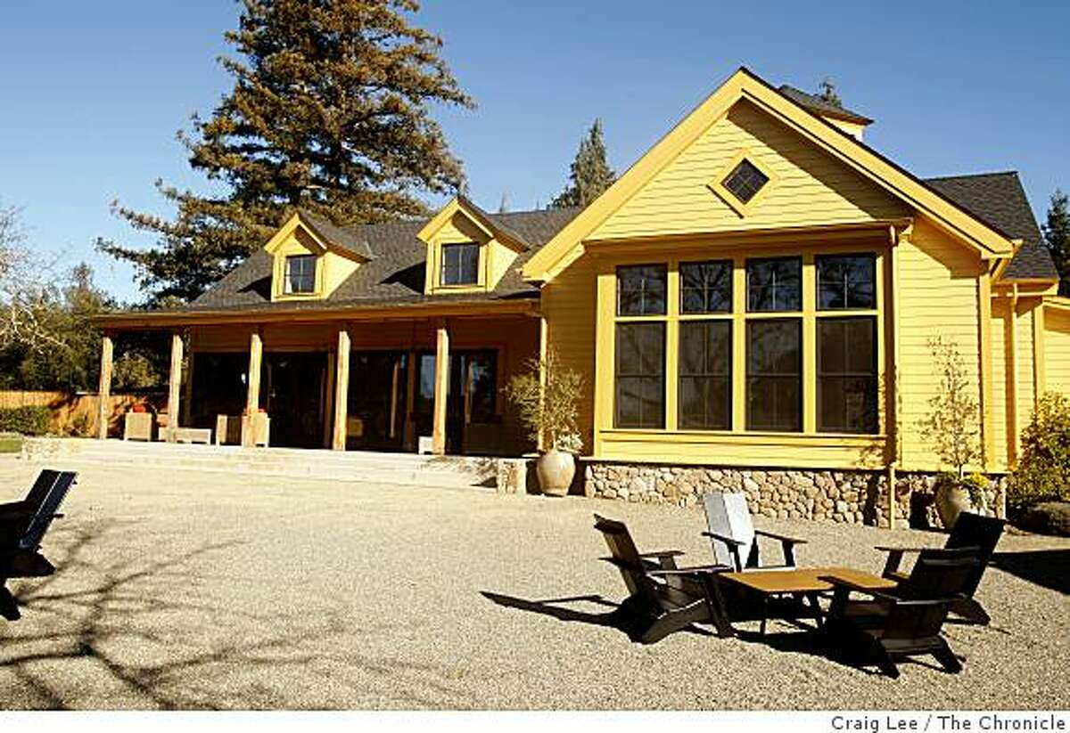 The outdoor patio area of the Paraduxx tasting room in Napa, Calif., on January 9, 2009.