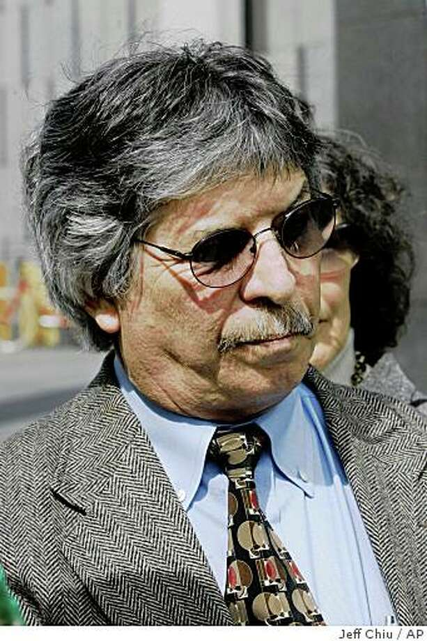 Capt. John Cota is shown outside the Federal Building in San Francisco, Friday, April 4, 2008. Cota, the pilot of the freighter that spilled 53,000 gallons of oil into the San Francisco Bay, will invoke his right not to testify at a federal investigative hearing, his attorneys say in a letter that directs blame toward the Coast Guard and the ship's master for the incident. (AP Photo/Jeff Chiu) Photo: Jeff Chiu, AP