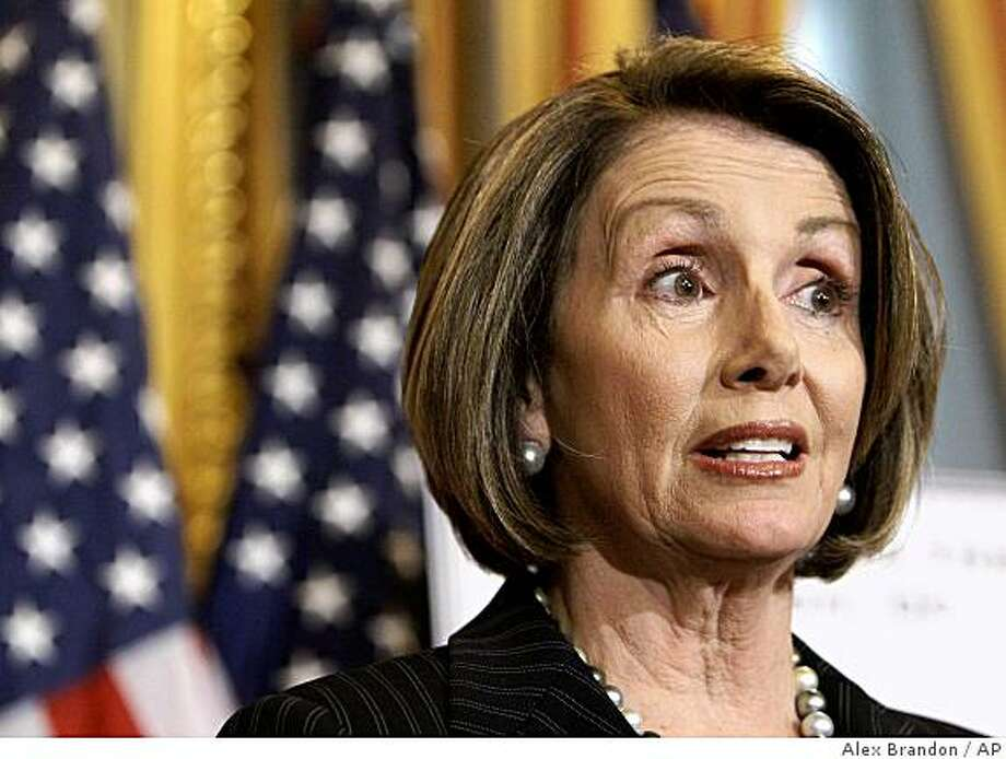 House Speaker Nancy Pelosi of Calif. speaks during a news conference on Capitol Hill in Washington, Wednesday, May 6, 2009. (AP Photo/Alex Brandon) Photo: Alex Brandon, AP