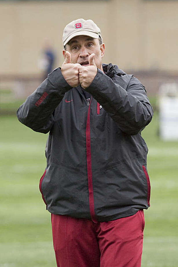 Vic Fangio goes through practice at Stanford University on March 1, 2010 in Stanford, Calif. Photograph by David Paul Morris / Special to the Chronicle Photo: David Paul Morris, Special To The Chronicle