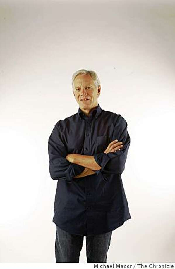 Chronicle columnist, Scott Ostler, stands for a photograph inside the studio on Tuesday Jan. 27, 2008 in San Francisco,Calif. Photo: Michael Macor, The Chronicle