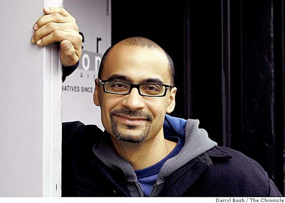 "Junot Diaz author of ""Drown,"" a short-story collection, at the Intersection for the Arts in the Mission district. Event on 4/15/06 in San Francisco. Darryl Bush / The Chronicle Photo: Darryl Bush, The Chronicle"