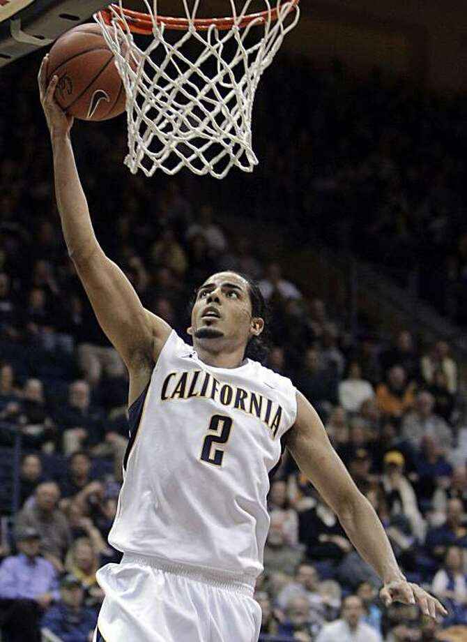 California's Jorge Gutierrez lays up a shot against UCLA during the first half of an NCAA college basketball game Sunday, Feb. 20, 2011, in Berkeley, Calif. Photo: Ben Margot, AP