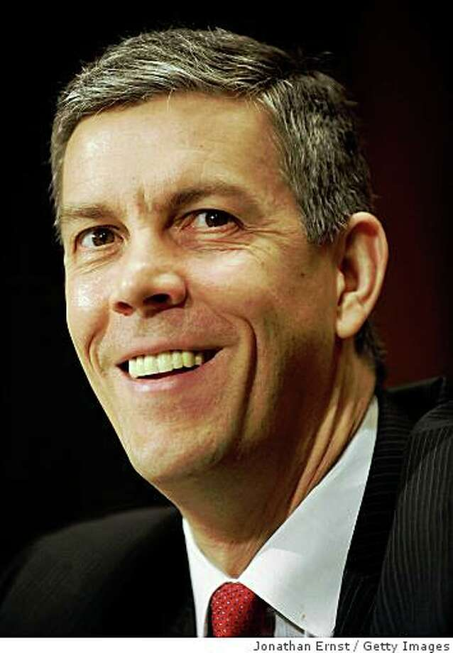 Secretary of Education Arne Duncan says the Obama administration is launched the biggest investment in education since the G.I. Bill.  (Photo by Jonathan Ernst/Getty Images) Photo: Jonathan Ernst, Getty Images