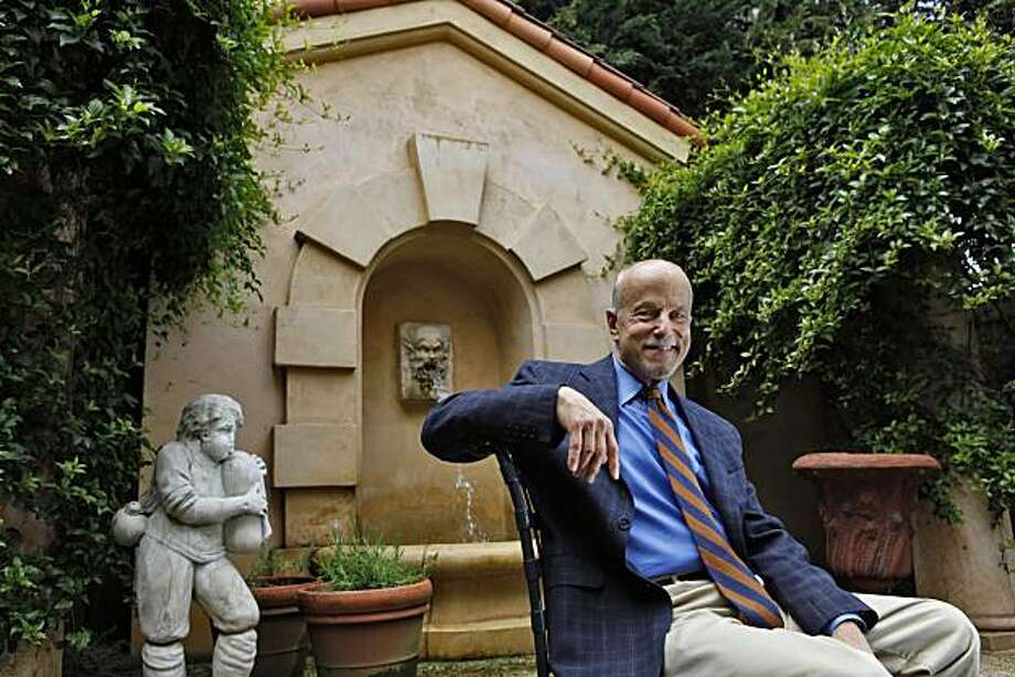 San Francisco antiques dealer Ed Hardy, who is closing shop after 33 years in town. He will have an auction on May 5, conducted by Bonhams & Butterfields auction house. This story is about the changing world of antiques dealing - moving from brick and mortar to Internet. One of the hallmarks of his store was to create a beautiful garden environment to calm the client and soothe them before entering the space, and that is largely what is distinctive about his store. The trend now is to sell on the Internet, rather than having a beautiful garden setting for the clients. Photo: Carlos Avila Gonzalez, The Chronicle