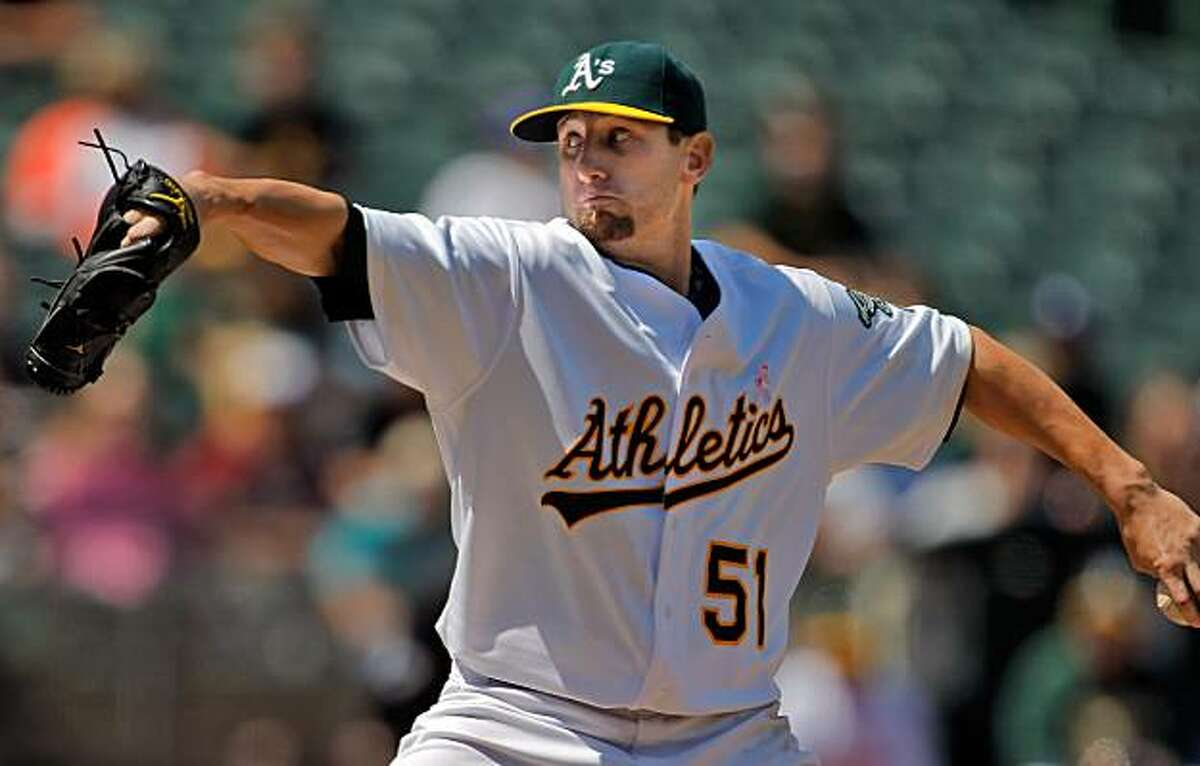 Dallas Braden pitches a perfect game against the Tampa Bay Rays in Oakland on Sunday.