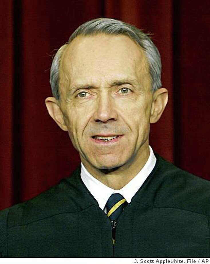 FILE - In this Dec. 5, 2003 file photo, U.S. Supreme Court Associate Justice David Souter poses during a group portrait session with the members of the U.S. Supreme Court, at the Supreme Court Building  in Washington. (AP Photo/J. Scott Applewhite, File) Photo: J. Scott Applewhite, File, AP
