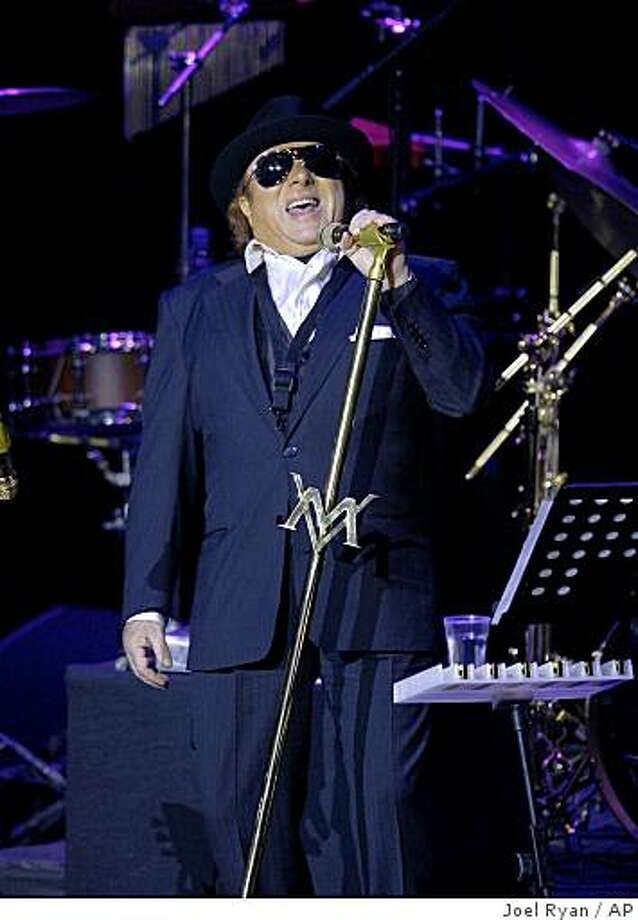 U.S artist Van Morrison performs onstage at the Royal Albert Hall in London, Saturday April 18, 2008. Photo: Joel Ryan, AP