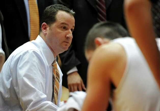 UTSA mens basketball head coach Brooks Thompson talks to his team during a time out during a Southland Conference mens  basketball game between UTSA and Southeastern Louisiana at the UTSA Convocation Center In San Antonio, Texas on February 8, 2012. John Albright / Special to the Express-News. Photo: Express-News