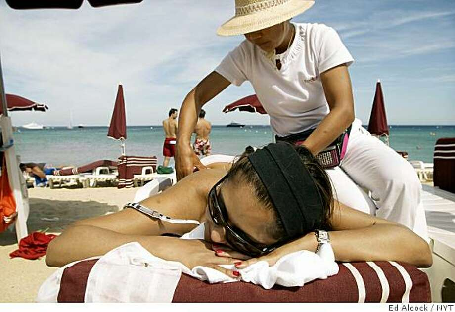 Plage de Tahiti in St. Tropez, France Photo: Ed Alcock, NYT