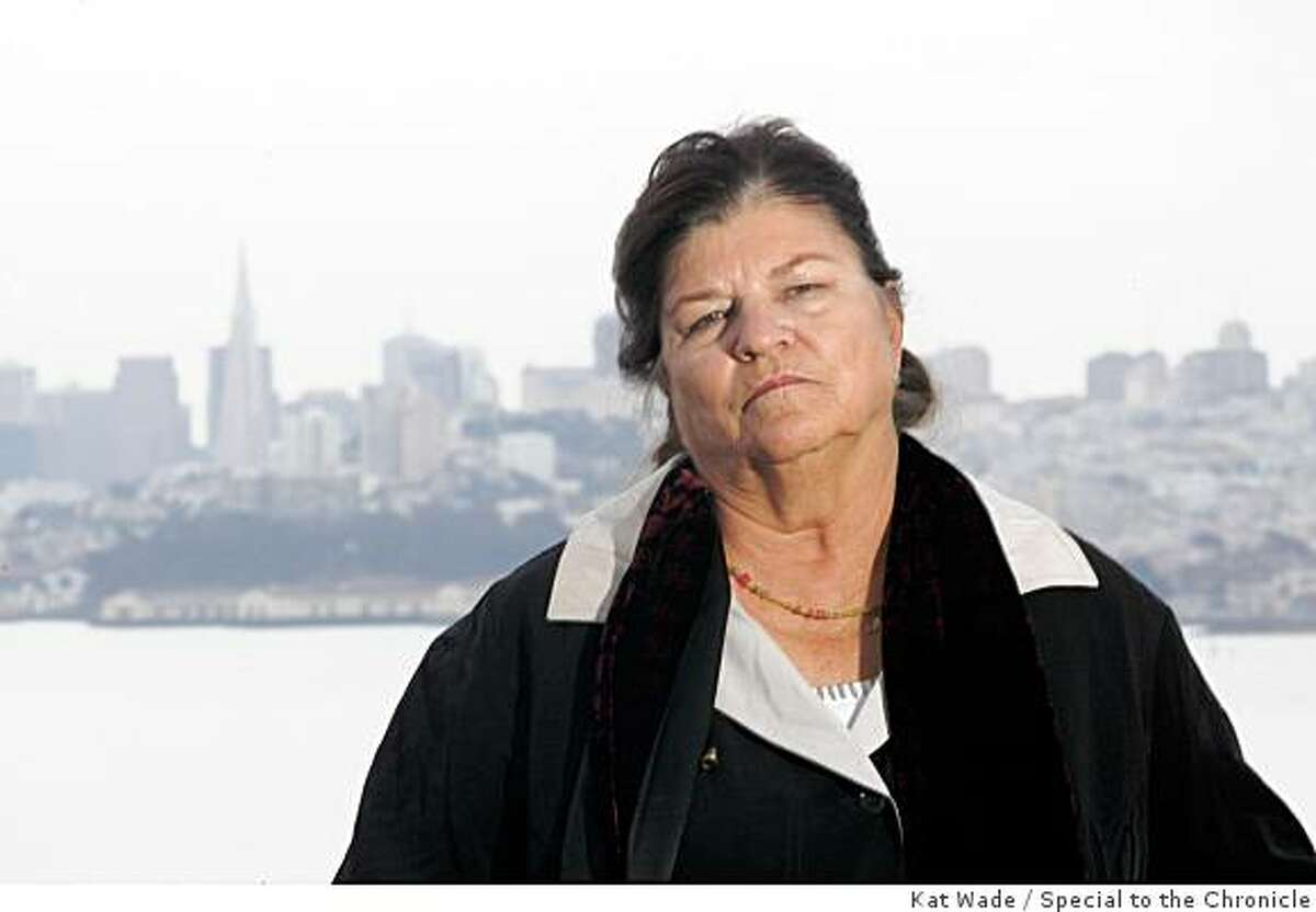 Janice Hendrickson holds a press conference to dispute her step-sister, Deborah Perez's claim that their father, Guy Ward Hendrickson was the Zodiac killer at visitor's center in Marin City, Calif. on Friday, May 1, 2009.Photo by Kat Wade / Special to the Chronicle