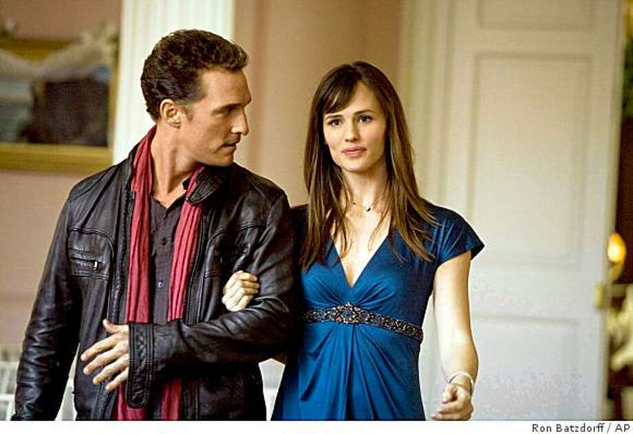 "In this film publicity image released by Warner Bros., Matthew McConaughey, left, and Jennifer Garner are shown in a scene from ""Ghosts of Girlfriends Past."" (AP Photo/Warner Bros., Ron Batzdorff) ** NO SALES ** Photo: Ron Batzdorff, AP"