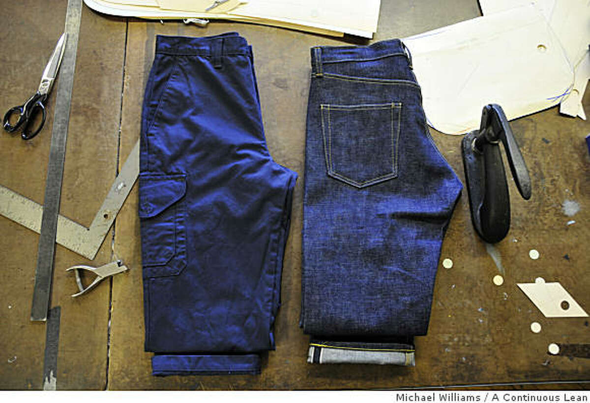 Pants from the Post O'Alls Factory, which replicates American work wear. The clothing is sold primarily in Japan, but also at Barneys and Steven Alan in New York.