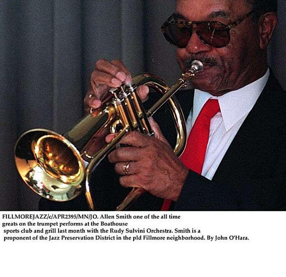 Trumpeter Allen Smith Photo: John O'Hara, The Chronicle