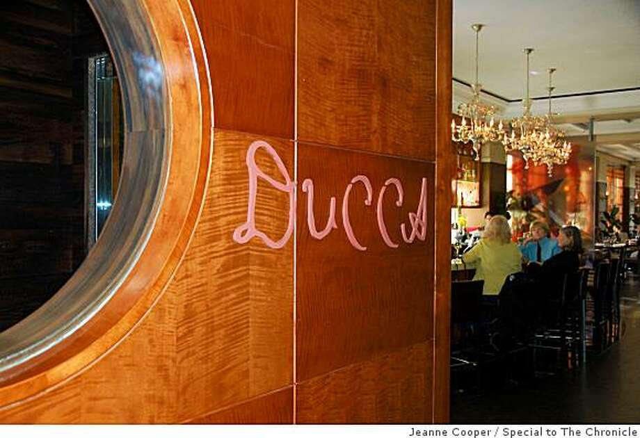The highly rated Ducca restaurant and bar are on the ground floor of the Westin San Francisco Market Street. Photo: Jeanne Cooper, Special To The Chronicle