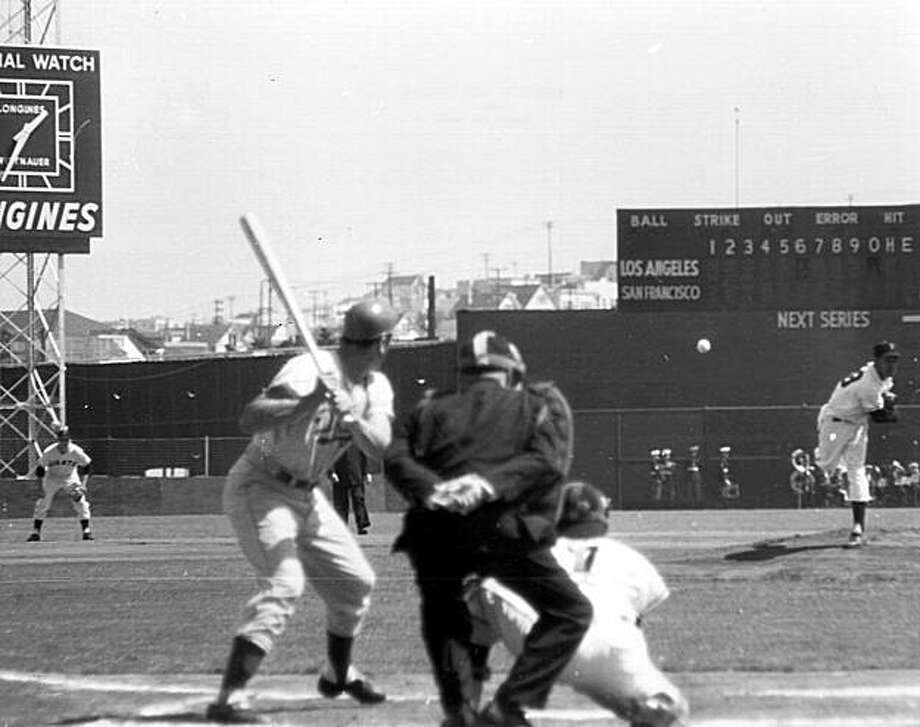 first pitch 1958 at seals Photo: Adf