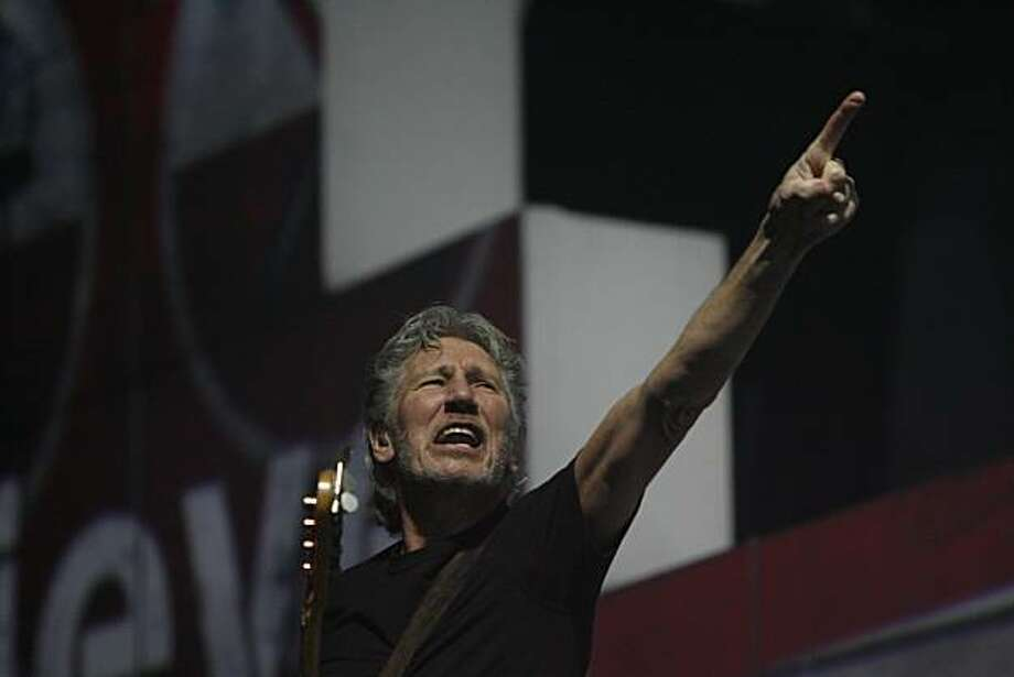 "Pink Floyd frontman Roger Waters makes a stop at the Oracle on tour playing Pink Floyd's 1980 ""The Wall"" incorporated with Broadway-style pyrotechnics in Oakland, Calif. on Dec. 3, 2010. Photo: Kirsten Aguilar, The Chronicle"