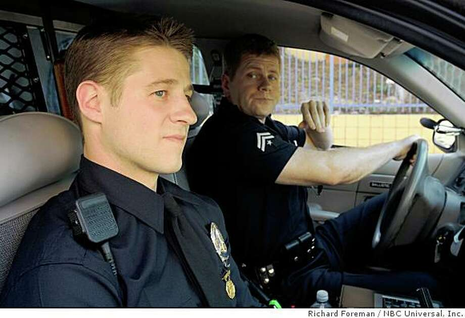 "SOUTHLAND -- ""Unknown Trouble"" Pilot -- Pictured: Ben McKenzie as Ben Sherman, Michael Cudlitz as John Cooper. Photo: Richard Foreman, NBC Universal, Inc."