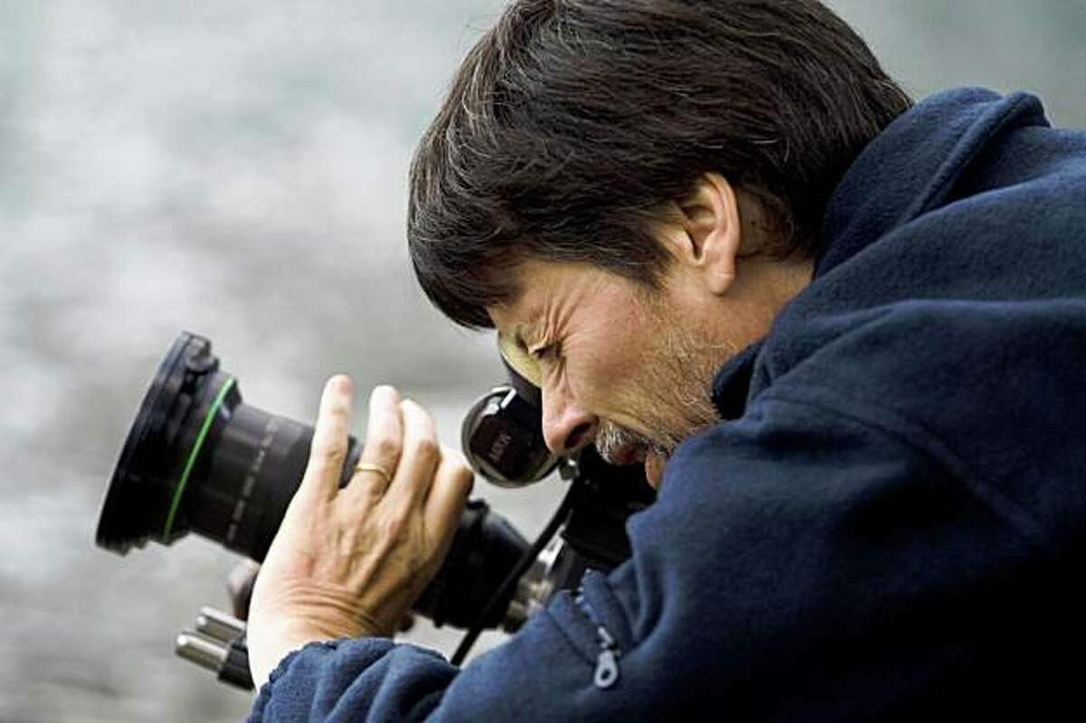 Filmmaker Ken Burns filming at Montana?•s Glacier National Park in July 2008.