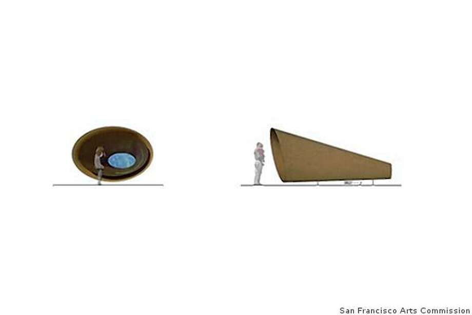 "computer rendering of the ""Sound Cone"" designed by Maya Lin for a multi-media work titled ""What is Missing?"" to be installed at the California Academy of Sciences Photo: None, San Francisco Arts Commission"
