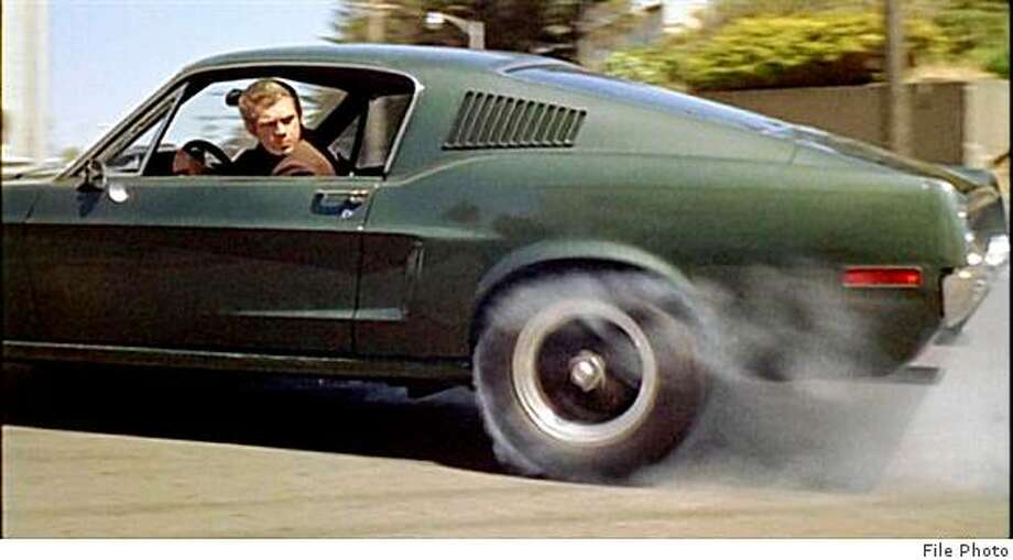 Steve McQueen on the set of the movie &quo;Bullitt,&quo; in which he drove in the finest chase scene. Photo: File Photo