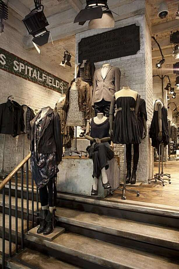 Interior image of the new AllSaints store in San Francisco. Photo: Allsaints.