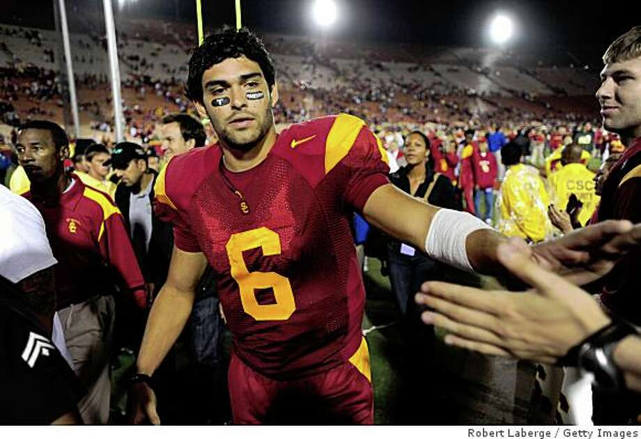 LOS ANGELES, CA - OCTOBER 04:  Mark Sanchez #6 and quarterback for the USC Trojans walks off the field after the game against the Oregon Ducks on October 4, 2008 at the Los Angeles Memorial Coliseum in Los Angeles, California.  (Photo by Robert Laberge/Getty Images) Photo: Robert Laberge, Getty Images