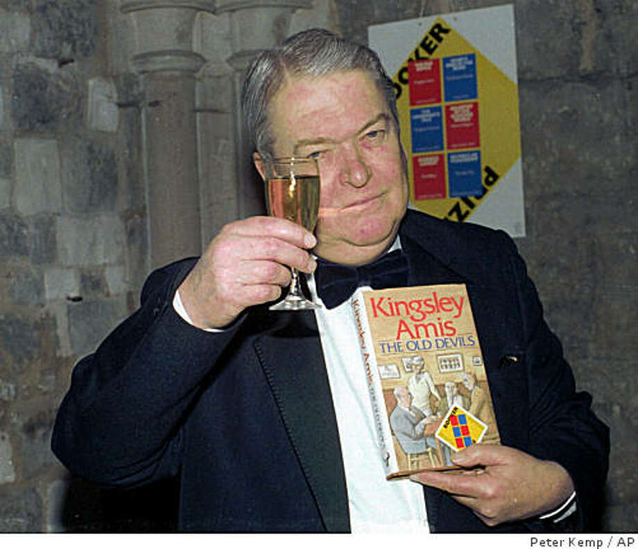 Sir Kingsley Amis Celebrates In London Oct 22 1986 When He Was Awarded Britain S