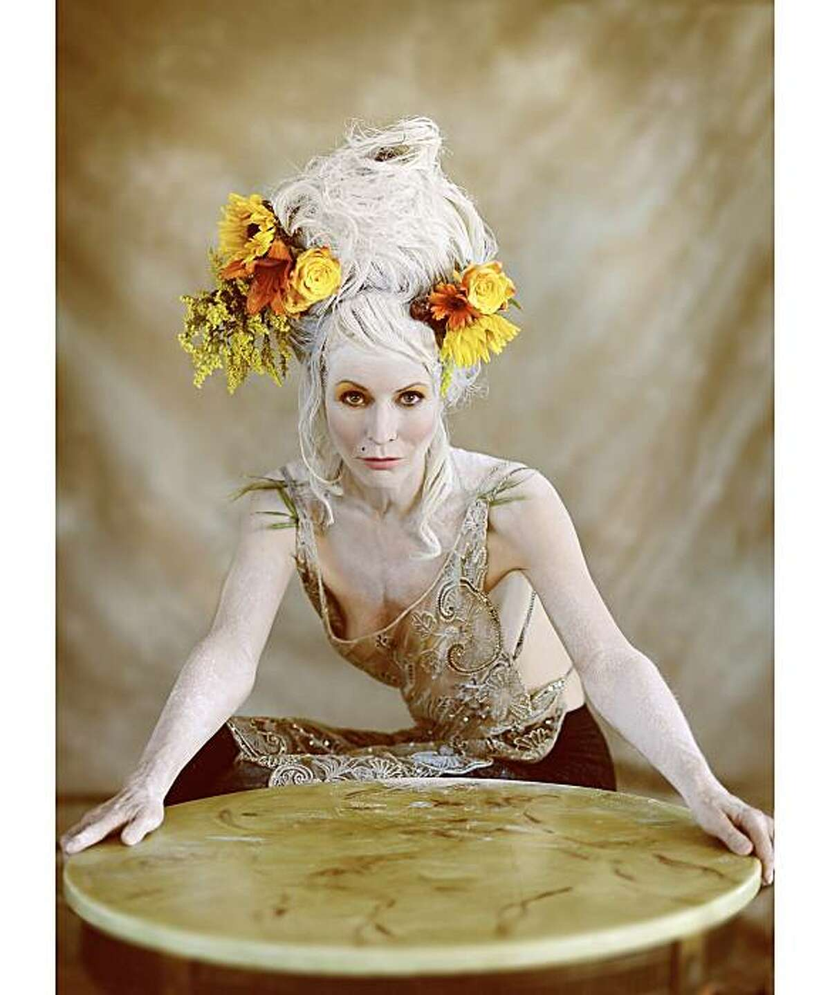 London photographer Frederic Aranda, who specializes in portrait photography, did a fantasy fashion series with San Francisco arts patron Christine Suppes in London during June, 2010. The series was called