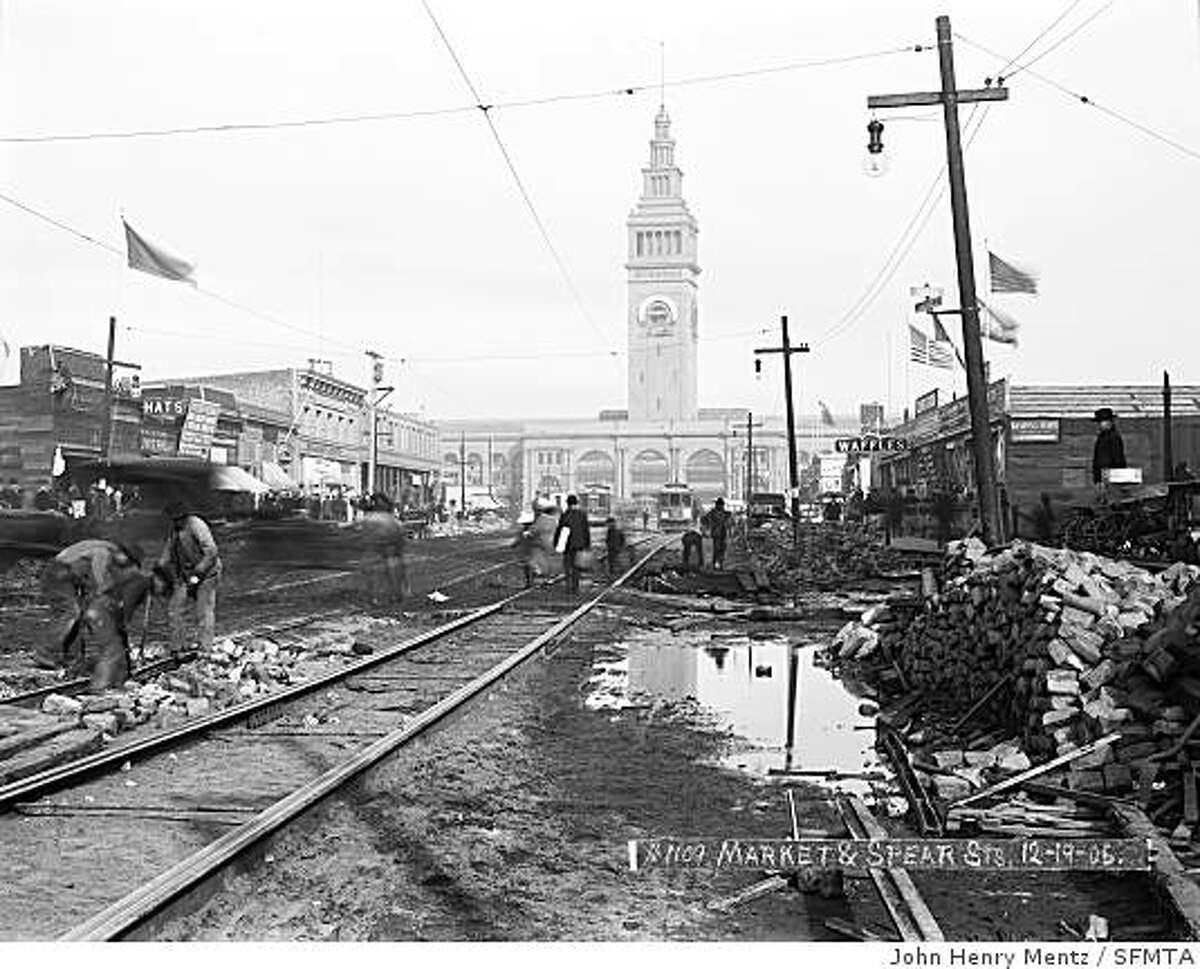 Market Street & Spear Street, December 19, 1906