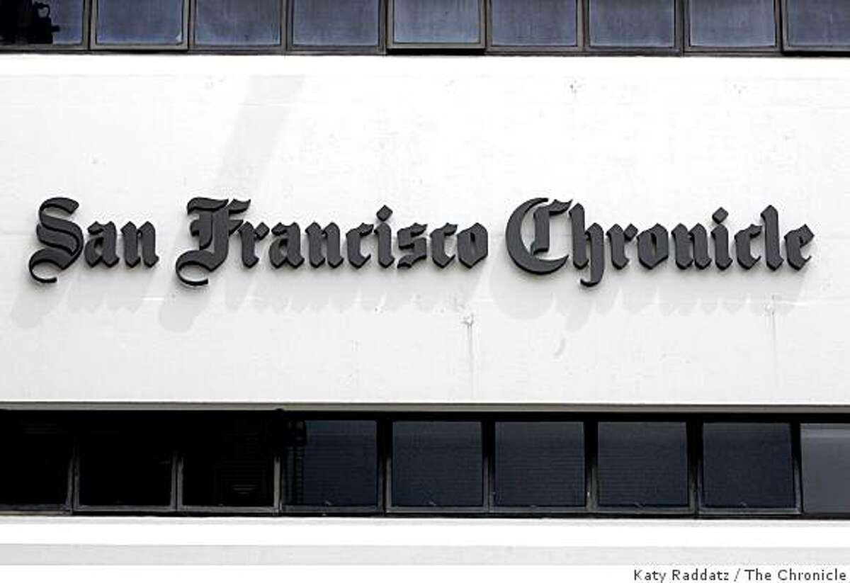 Chronicle logo on the outside of the building. These pictures were made in San Francisco, CA. on Thursday, May 3, 2007.