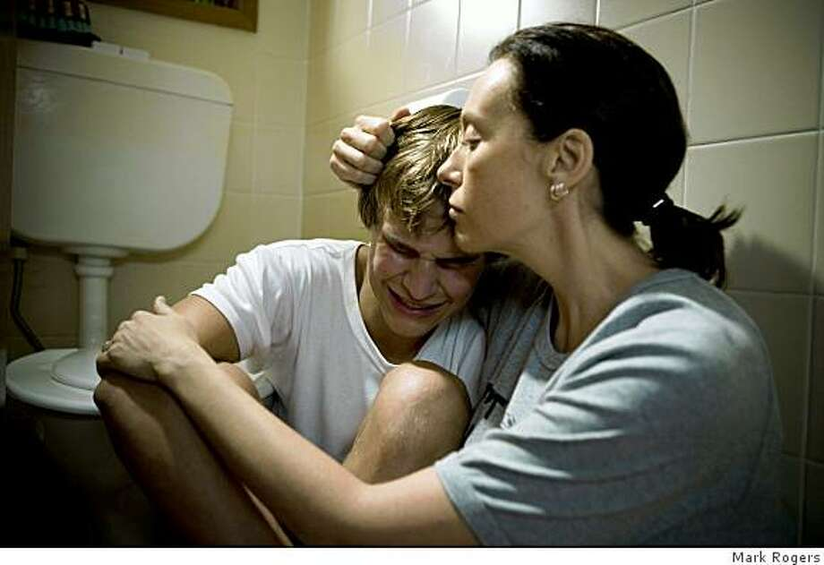 "Rhys Wakefield as Thomas and Toni Collette as Maggie in ""The Black Balloon."" Photo: Mark Rogers"
