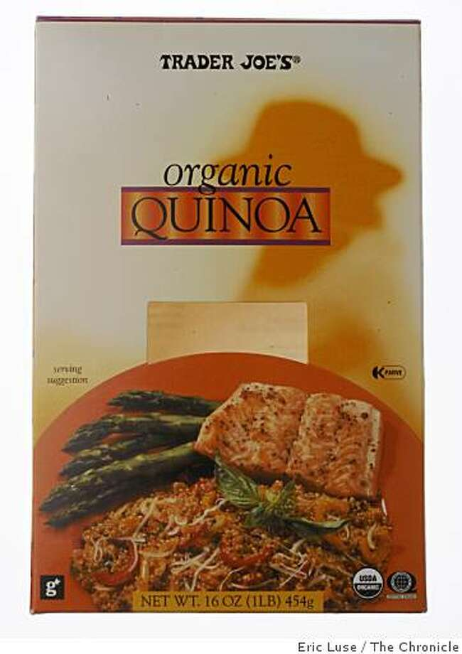 Trader Joe's Quinoa box photographed  in San Francisco on Thursday, April 9, 2009. Photo: Eric Luse, The Chronicle