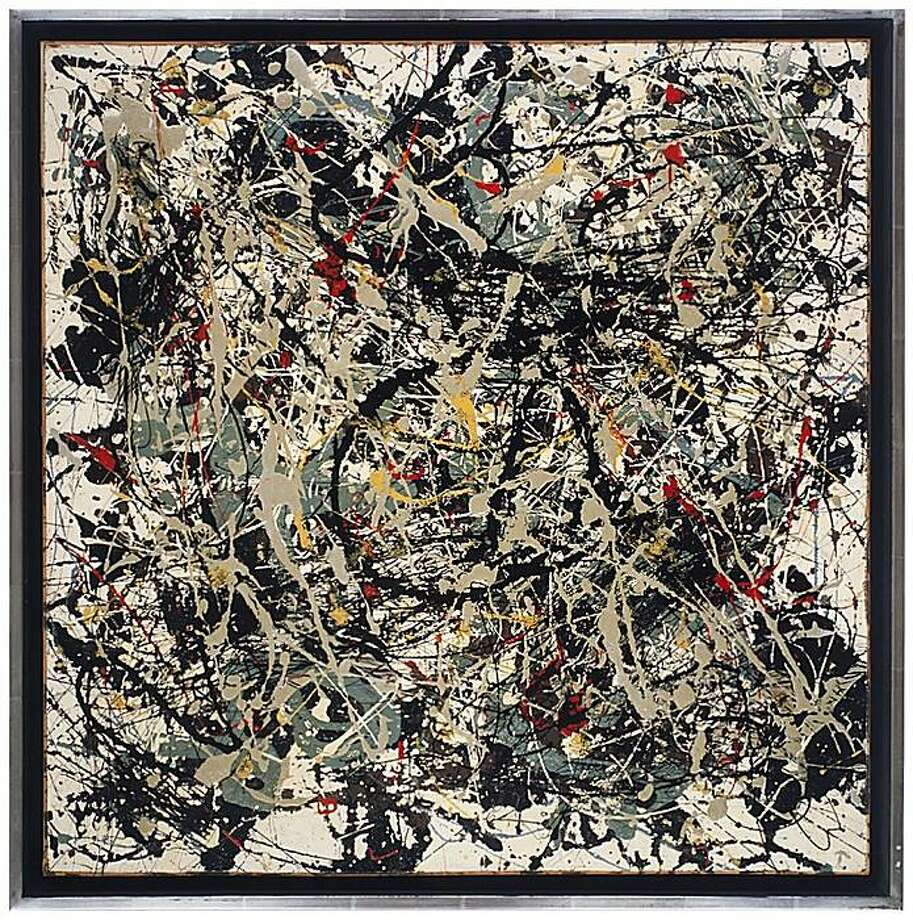 """Square Pouring"" (1948) oil on masonite by Jackson Pollock   24"" x 24"" Photo: Unknown, S.f. Museum Of Modern Art"