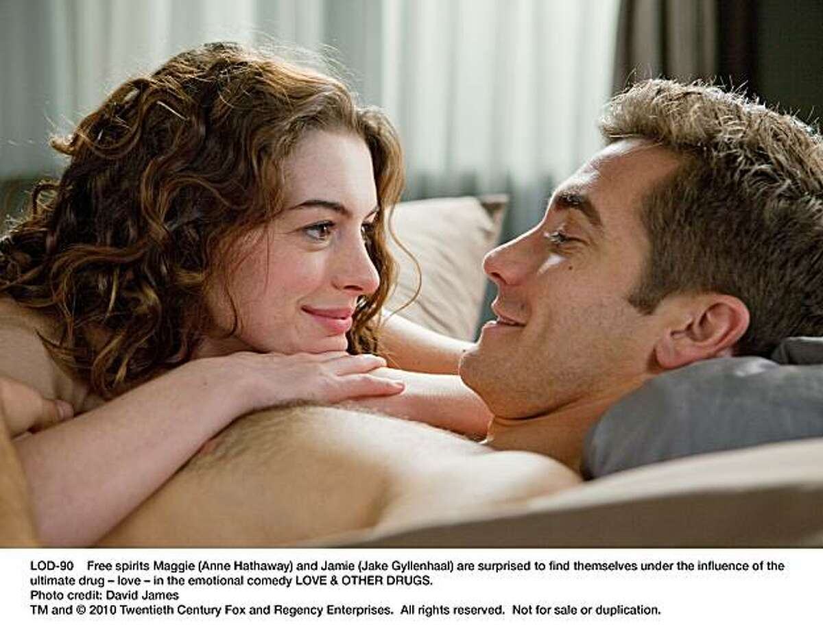 LOD-90 Free spirits Maggie (Anne Hathaway) and Jamie (Jake Gyllenhaal) are surprised to find themselves under the influence of the ultimate drug Ð love Ð in the emotional comedy LOVE & OTHER DRUGS.