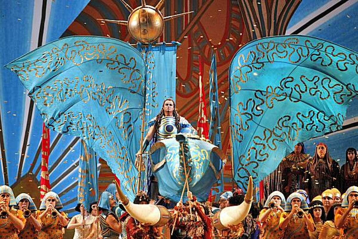 """Cory Weaver in the triumphal scene of """"Aida,"""" presented by the San Francisco Opera Nov. 23-Dec. 5 at the War Memorial Opera House."""