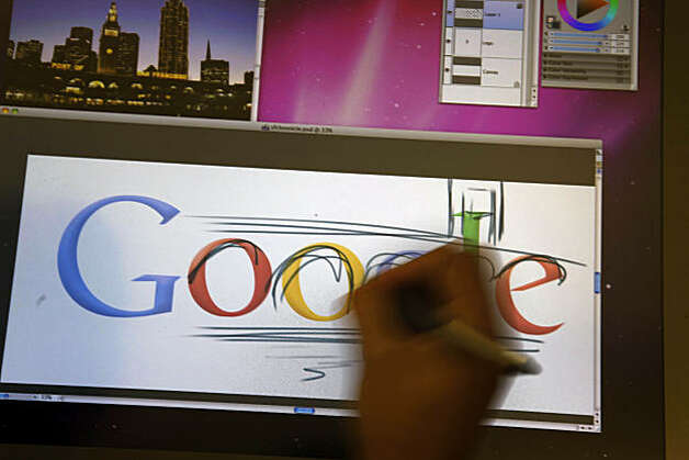 Google Chief Doodler Michael Lopez demonstrates the process of how a doodle is created at Google in Mountain View, Calif. on Tuesday August 20, 2010. Photo: Lea Suzuki, The Chronicle