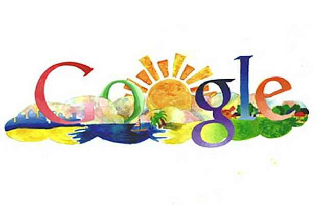 "One of the winners from 2008 doodle for google competition, grace moon's up in the clouds. entry info:  Up in the Clouds  My doodle, ""Up in the Clouds,"" expresses a world in the sky. This new world is clean and fresh, and people are social and enlightened. Every person here is treated as family no matter who they are. The bright sun heats this ideal place with warmth, love, and brightens everyone's day.  Name: Grace Moon  School: Canyon Middle School  State: California"