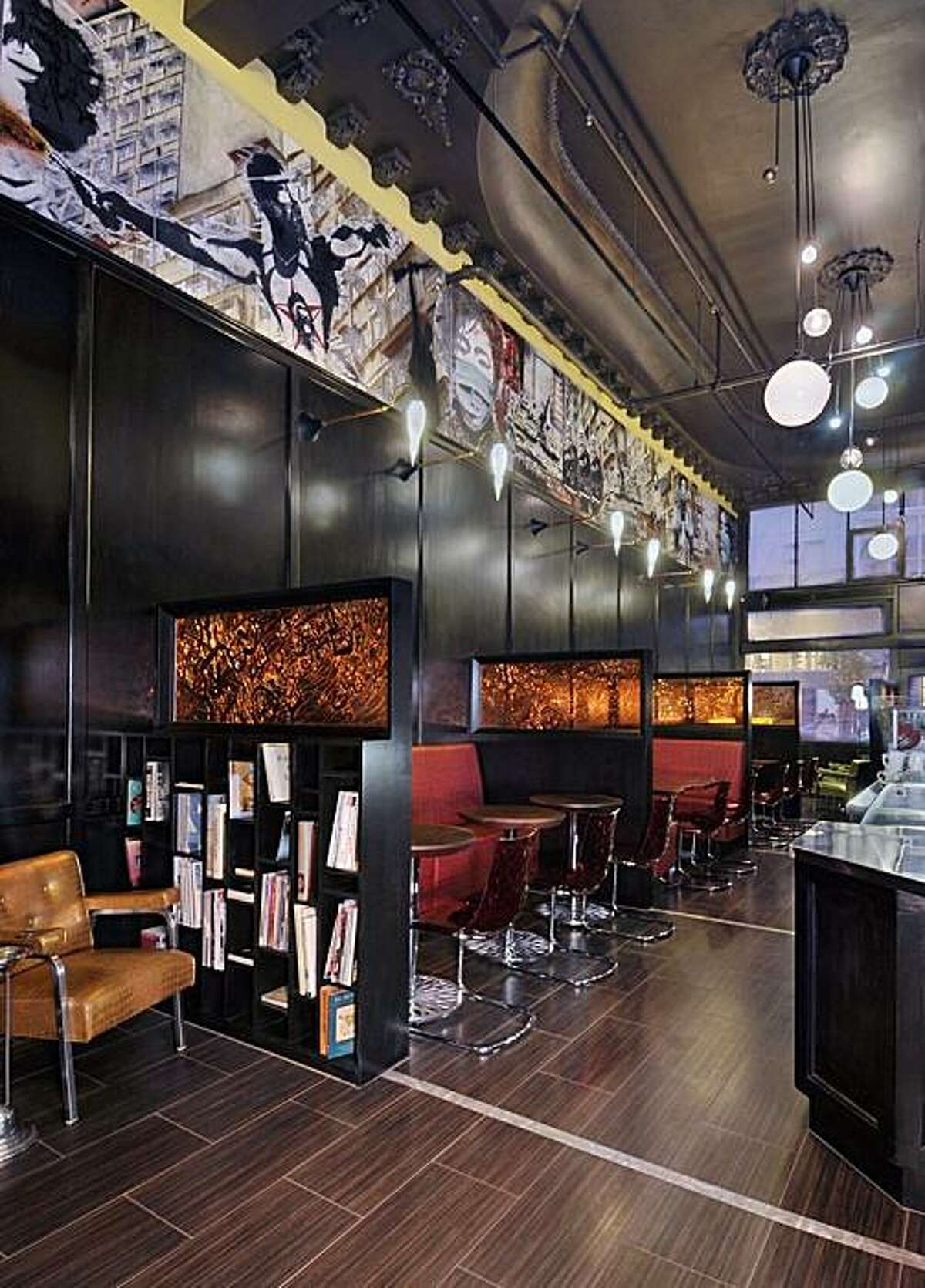 Stoneware floor at Ma-Velous in San Francisco, designed by Claudia Juestel of Adeeni Design Group.