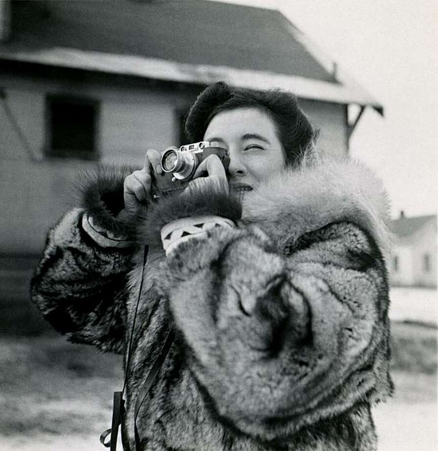 Film still from the film AHEAD OF TIME showing Ruth Gruber, traveling in Alaska as a member of the Roosevelt administration in 1941.