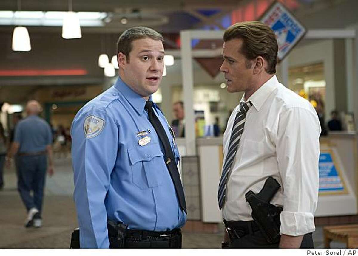 """In this image released by Warner Bros., Seth Rogen, left, and Ray Liotta are shown in a scene from """"Observe and Report."""""""