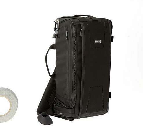 The Sling-O-Matic 10 camera bag by Think Tank Photo that allows the user to switch the strap to fit either shoulder but still keep gear access upright. Photo: Russell Yip, The Chronicle